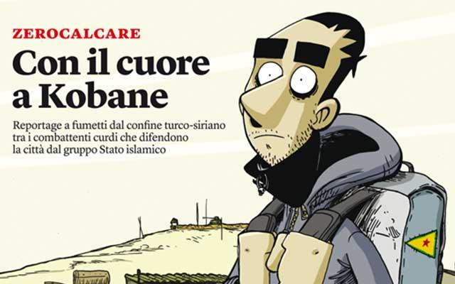 zerocalcare a Napoli per parlare di Kobane