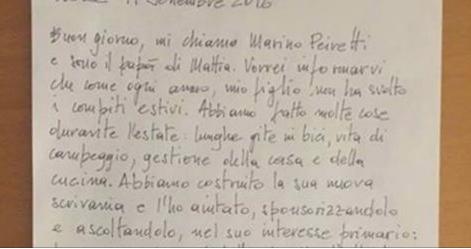 """Genitore scrive agli insegnanti del figlio: """"Ecco perché non ha fatto i compiti estivi!"""""""